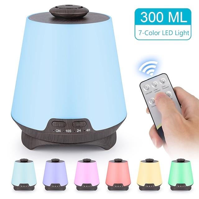 diffusore di oli essenziali premium 5 in 1 diffusore di oli profumati aromaterapia ad ultrasuoni vaporizzatore umidificatore timer e spegnimento automatico senza acqua 7 colori di luce a led