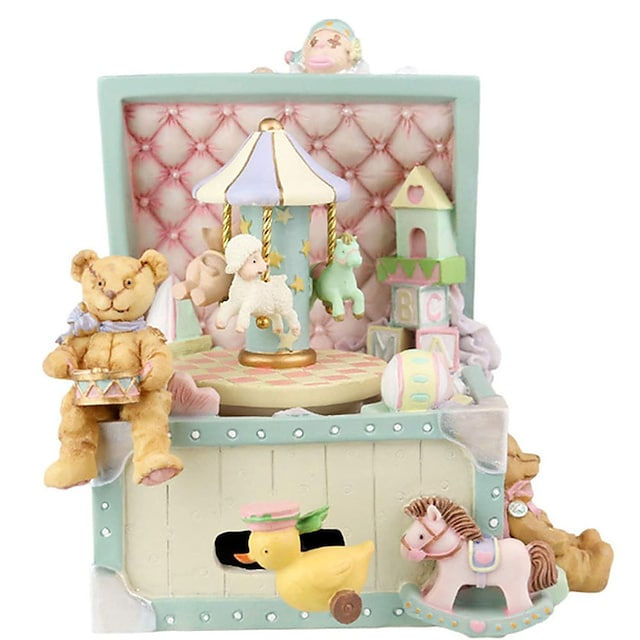 Retro Circus Rotating Music Box, Cartoon Amusement Park Music Box, Christmas, Valentine's Day, Birthday Gifts, Crafts and Decorations