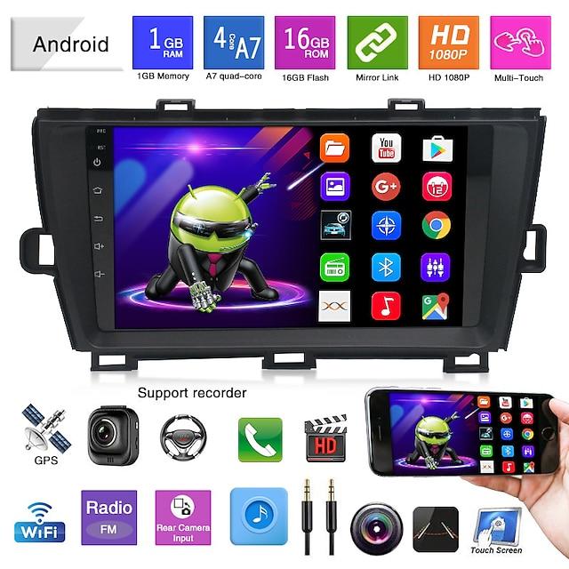 egnet for 09-13 toyota prius android navigasjonsbil gps integrert maskin reverserende videospiller