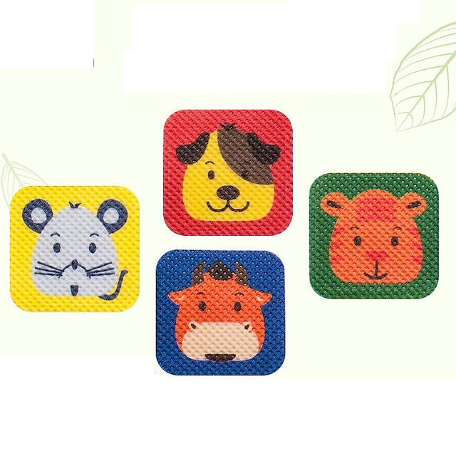 20 pcs 모기 구충제 스티커 패치 패턴 만화 성인 임산부 유아 어린이 동물 모기 스티커 야외 실내