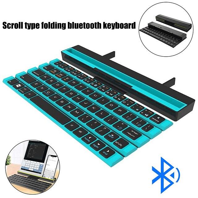 Teclado inalámbrico bluetooth mini teclado plegable teclado de estilo plegable de rollo portátil para ipad / ordenadores portátiles