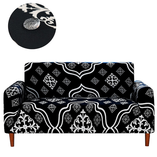 New Stylish Simplicity Print Sofa Cover Stretch Couch Slipcover Super Soft Fabric Retro Hot Sale Couch Cover