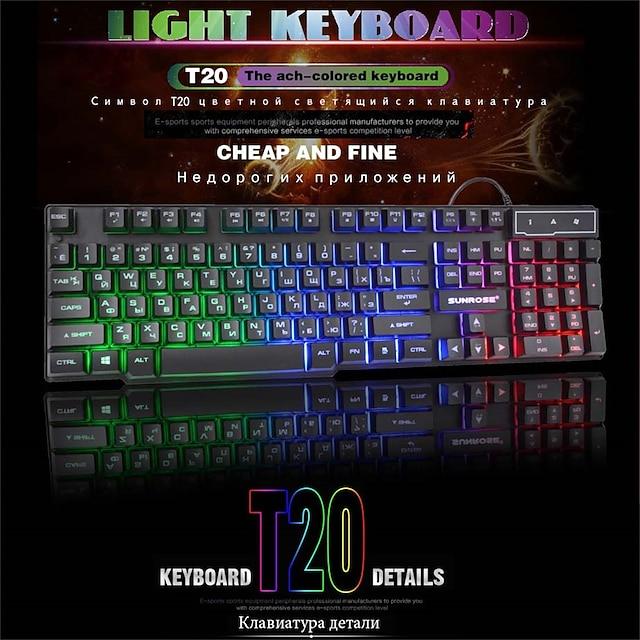 2021 hiperdeal nou de înaltă calitate rusă și engleză jocuri cu fir bărbați clavier 104 butoane cu tastatură iluminată din spate pentru laptop pentru computer