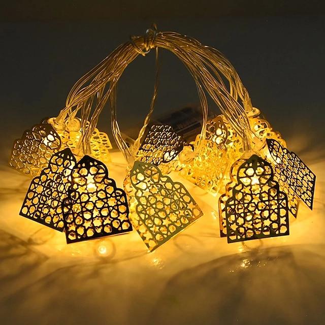 Светодиодные гирлянды для замка 1,5 м 10 светодиодов Ид мубарак на батарейках Исламская мусульманская вечеринка Ид украшение для дома и сада сказочные огни