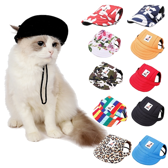 Dog Cat Hair Accessories Dog Bandana & Dog Hat Dog Accessories Flower / Floral Leopard Geometic Leisure Casual / Sporty Dailywear Casual / Daily Dog Clothes Puppy Clothes Dog Outfits Adjustable Red