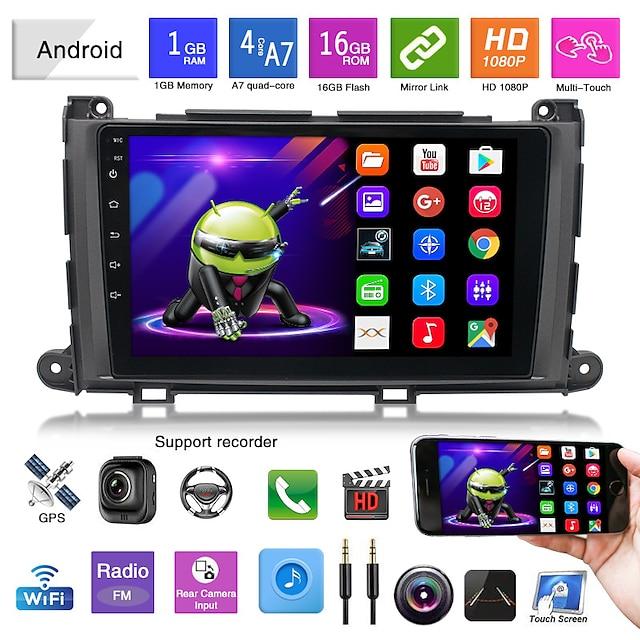 Convient pour 11-14 toyota senna navigation android tout-en-un android mp5 lecteur navigation image d'inversion
