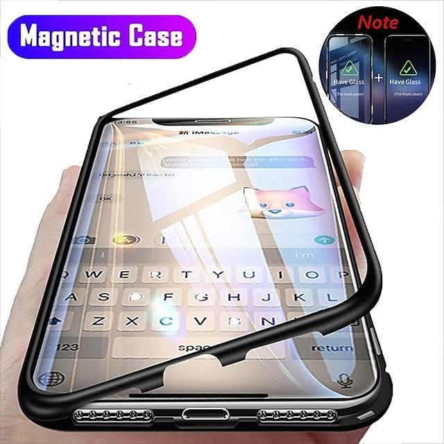 Telefon Hülle Handyhüllen Für Apple Ganzkörper-Gehäuse Magnetischer Adsorptionsfall iPhone 13 12 Pro Max 11 SE 2020 X XR XS Max 8 7 6 Stoßresistent Flipbare Hülle Transparent Durchsichtig Hart