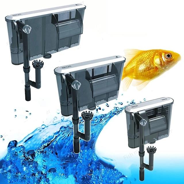 Aquarium Fish Tank Filter Vacuum Cleaner Adjustable Low Noise Plastic Cotton Metal 1pc 220-240 V