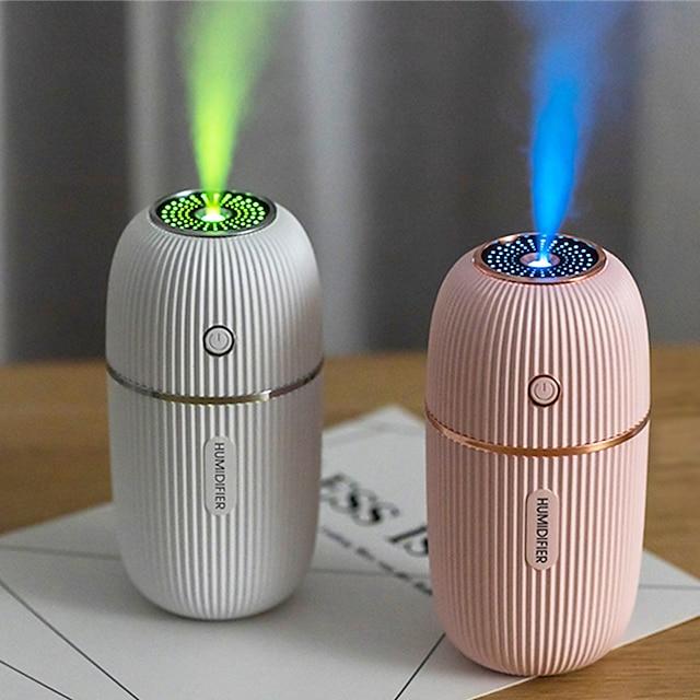 luchtbevochtiger 300ml ultrasone usb aroma essentiële olie diffuser romantische kleur nachtlampje mist maker humidificador draagbare