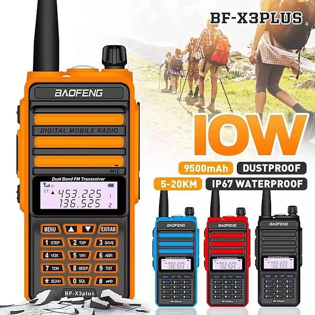 camoro digital mobil walkie talkie 10w ip67 baofeng bf-x3plus dmr tri-band skinka cb radio sändtagare kit walkie talkie