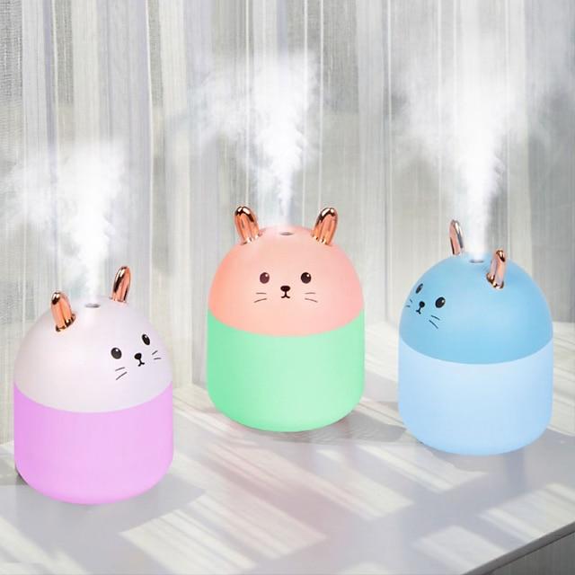 umidificador de ar portátil usb umidificadores elétricos sem fio difusor fabricante de névoa legal lâmpada noturna de LED gato bonito purificador de ar para carro de escritório em casa