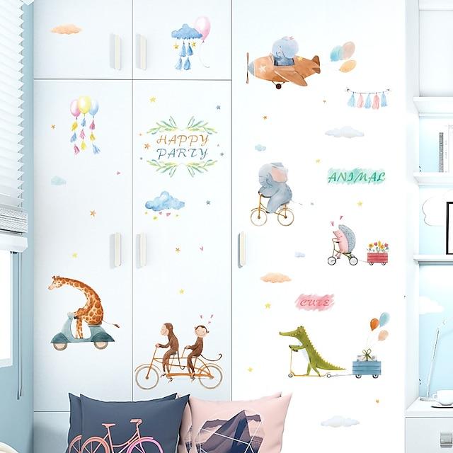 Cartoon Animal World Children Room Cabinet Porch Bathroom Study Classroom Dormitory Adornment Wall Paste
