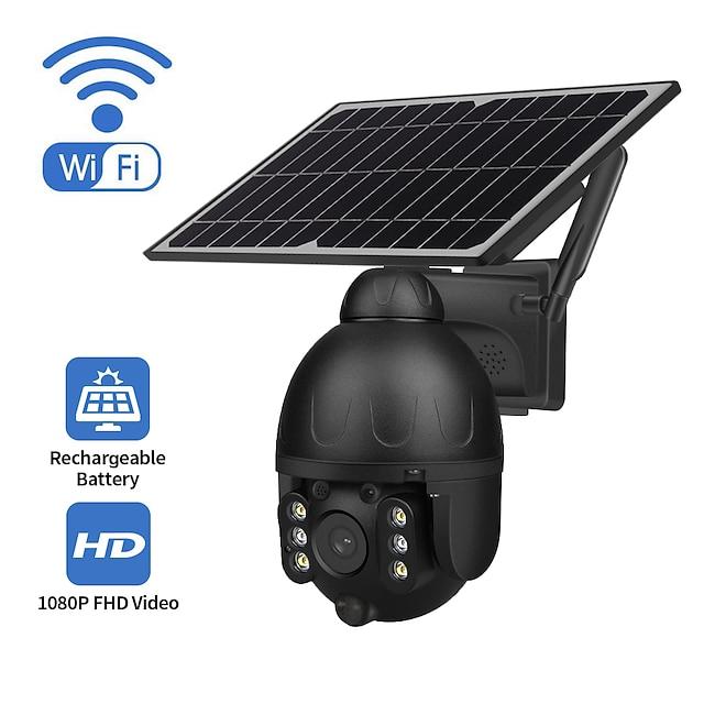 Indoor Outdoor monitoring WiFi Version monitoring ball camera support maximum 128GB SD card solar camera