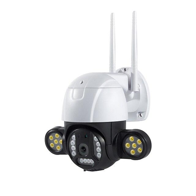 Telecamera di sorveglianza v380 Telecamera dome di sorveglianza per visione notturna ad alta definizione wireless per uso domestico 360 panoramica per esterni