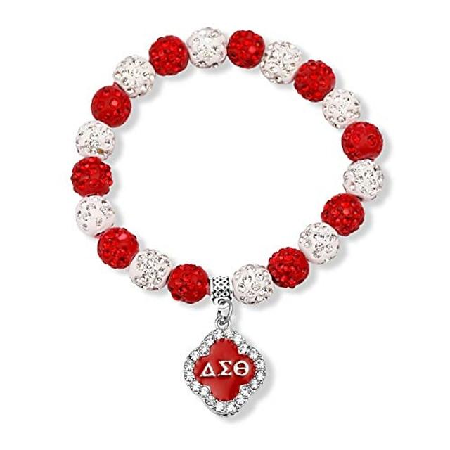 g-ahora delta sigma theta bracelet de sororité j'aime dst bijoux cadeau de sororité grecque delta sigma thêta bijoux de sororité (bracelet de perles)