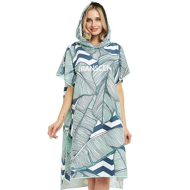 unisex เสื้อคลุมอาบน้ำคลุมด้วยผ้าคลุมด้วยผ้าไมโครไฟเบอร์ว่ายน้ำดำน้ำสวมใส่ผ้าเช็ดตัวชายหาด - พ่อมดแห่งออนซ์