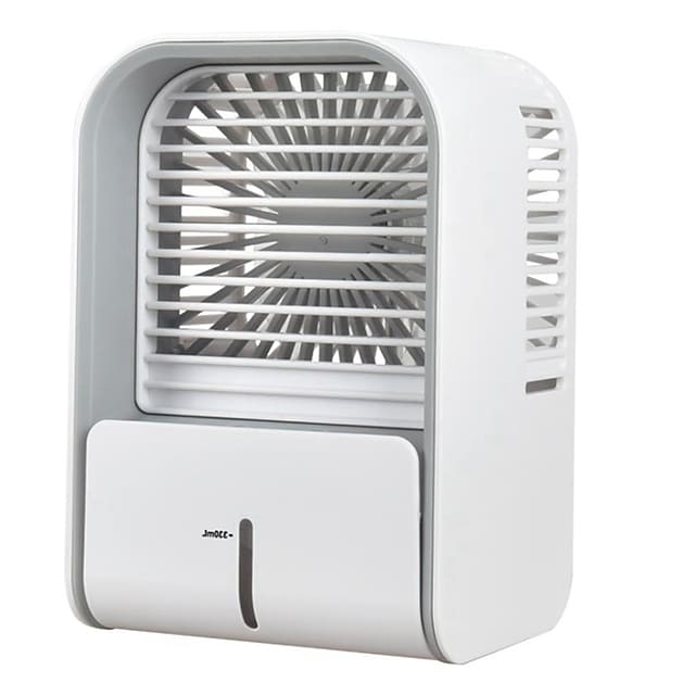 Double ice spray mist fan mini portable air conditioner water spray humidifier purifier usb air cooler fan desktop small air conditioning