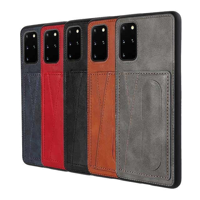 telefon Maska Pentru Samsung Galaxy Capac Spate Toc de piele S21 S21 Plus S21 Ultra S20 S20 Plus S20 ultra S9 S9 Plus A51 S10 Titularul cardului Anti Șoc Anti Praf Culoare solidă PU piele