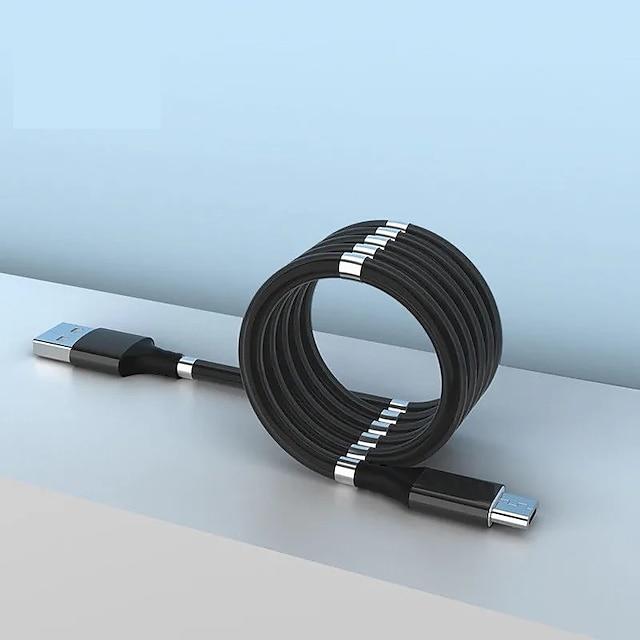 Mikro USB USB C Kabel Højhastighed Hurtig opladning Dataoverførsel 2.4 A 1.8M (6ft) PVC Til Xiaomi MI Samsung Huawei Tilbehør til mobiltelefoner