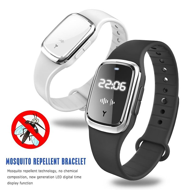 M2 2 In 1 NEW Ultrasonic Repellent Bracelet Anti Mosquito Insect Pest Bugs Waterproof Anti Mosquito Wrist Watch Bracelet For Indoor Outdoor