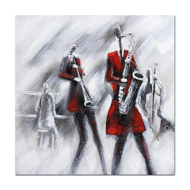 pittura a olio dipinta a mano astratta band poster sassofonista wall art decorazione della stanza della casa tela arrotolata senza cornice non stirata