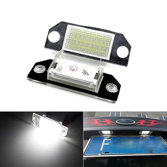 2 szto. Samochód LED Oświetlenia tablicy rejestracyjnej Żarówki 960 lm SMD 5050 12 W 6000 k 24 Na Bród Skupiać C-Max Wszystkie roczniki