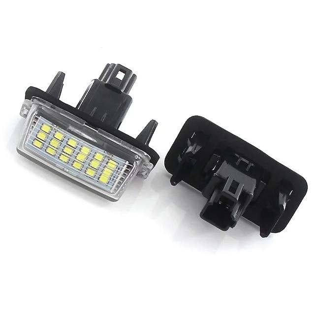2kpl Auto LED Rekisterikilven valo Lamput 720 lm SMD 5050 9 W 6000 k 18 Käyttötarkoitus Toyota Yaris Prius Teriö Kaikki vuodet