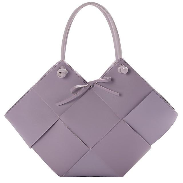 نسائي أكياس مجموعات حقيبة حقيبة بيد علوية مواعدة المكتب & الوظيفة 2021 حقائب أبيض أسود أرجواني كاكي