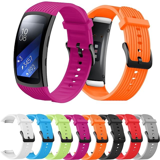 Smartwatch bånd til Samsung Galaxy 1 pcs Sportsrem Silikone Udskiftning Håndledsrem til Samsung Gear Fit 2 PRO