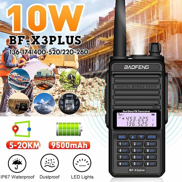 X3PLUS Vysílačka Analog Dual Band Dvoukanálové rádio >10KM >10KM