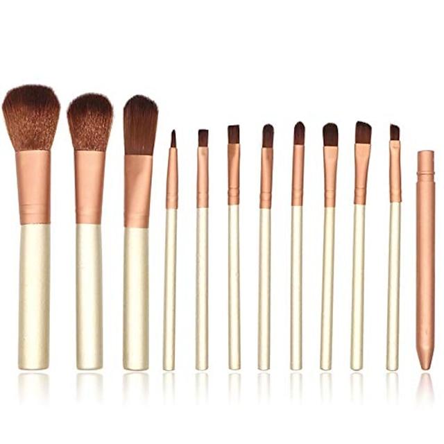 makeup brush 12-piece travel makeup brush set liquid foundation mixed concealer eye liquid powder cream set with box makeup brush set (color : gold, size : free size)