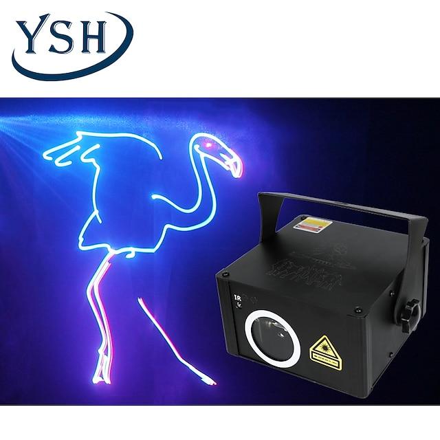 ysh disco dj animert laserlys animasjon laserprojektor dmx512 skanner dj disco festferie 500mw scenebelysning
