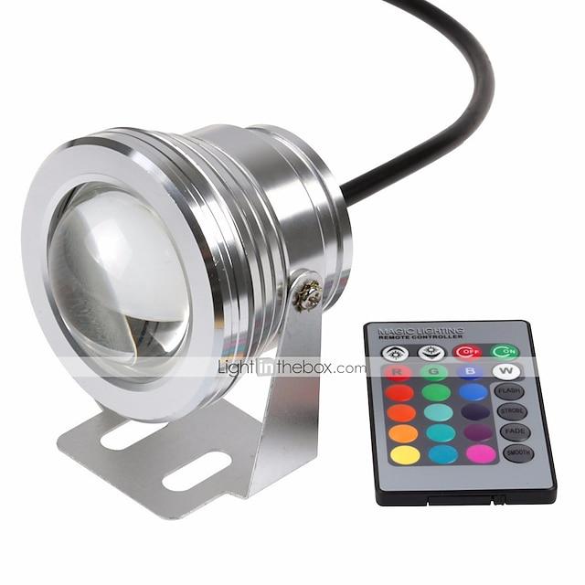 10 W 2 pièces 1 pc Imperméable Intensité Réglable Dégradé de Couleur Projecteurs LED Lumière Sous-marine 12 V RGB 1 Eclairage Extérieur Cour Jardin Perles LED
