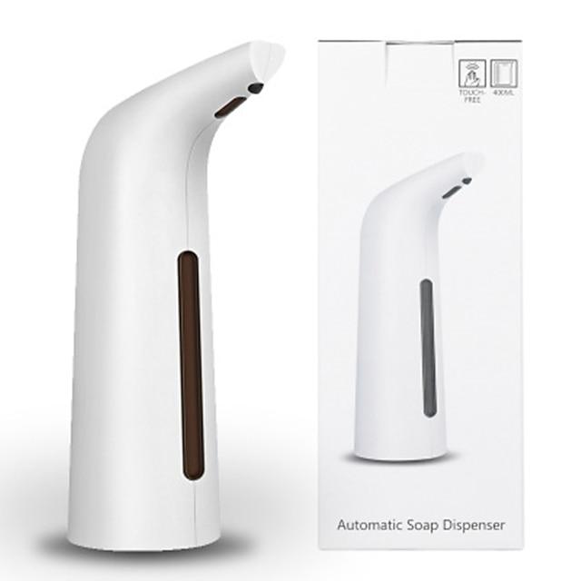 Дозатор мыла автоматический индукционный пластик 200 мл автоматический белый индукционный дозатор мыла