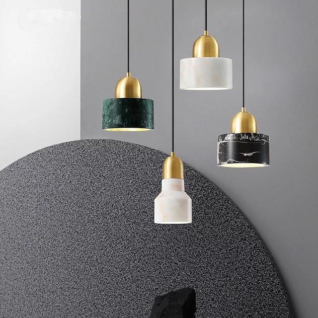 светодиодный подвесной светильник современный скандинавский 10/15 см глобус дизайн геометрические формы подвесной светильник металлический художественный стиль классический стильный гальванический