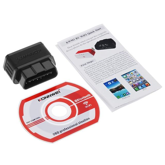 konnwei kw903 elm327wifi iso apple og android bil feil diagnose skanner verktøy