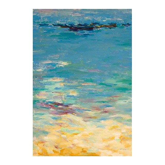 IARTS Hand Painted sea surface Oil Painting with Stretched Frame For Home Decoration