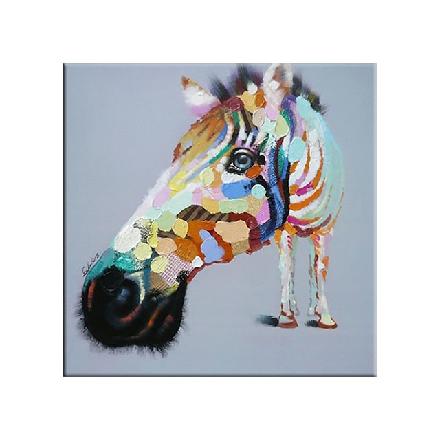 100% Hand painted By Professional Artist Little Horses Picture Canvas Painting Wall Art Pictures for Living Room Cuadros Home Decor