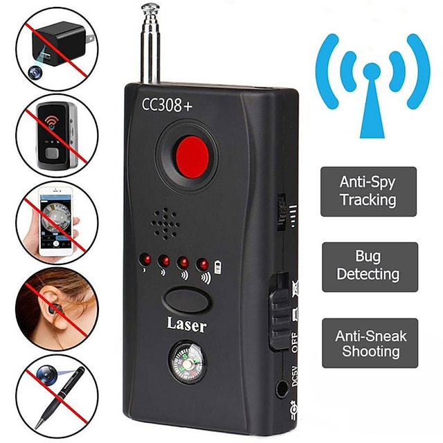 wireless camera lens signal detector cc308+ radio wave signal detect camera full-range wifi rf tracker gsm devices finder hot