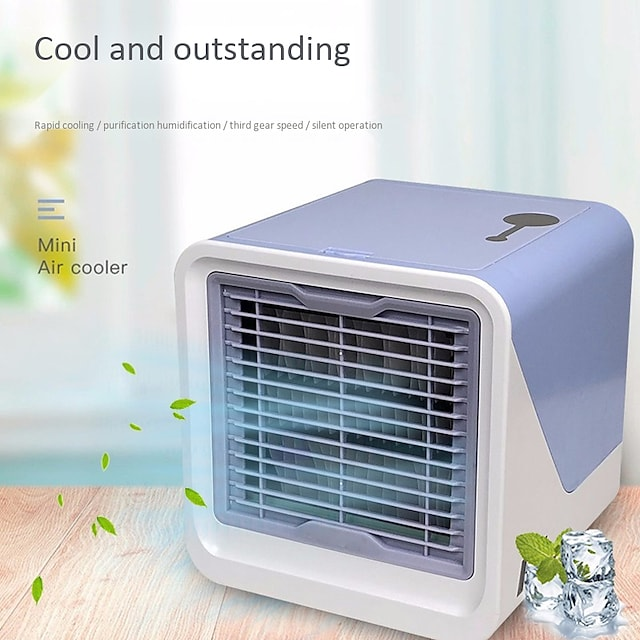 portable air conditioner usb mini air cooler  humidifier purifier desktop air cooler fan air cooling fan for home office