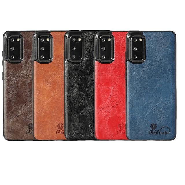 telefon Kılıf Na Samsung Galaxy Osłona tylna Skórzana walizka Galaxy A32 5G S20 S20 Plus S20 ultra S20 FE 5G Note 20 Ultra A91 / M80S A51 S10 S10 + Odporny na wstrząsy Skóra Jednokolorowe Skóra PU