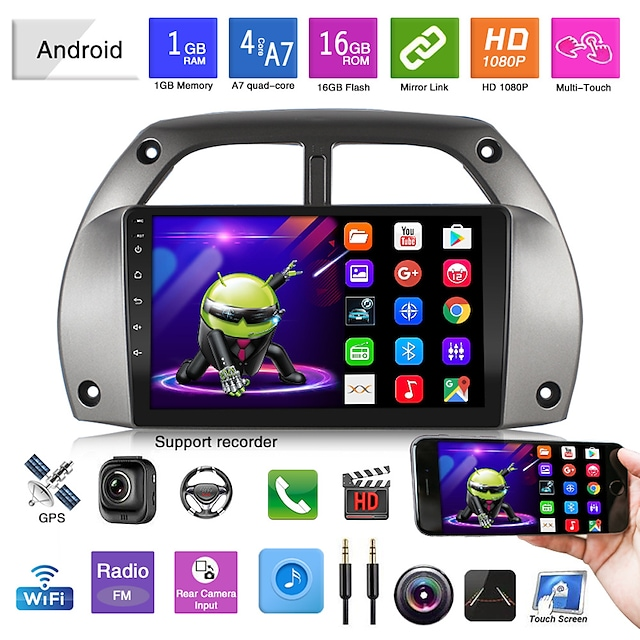 suitable for 01-06 toyota rav4 android universal locomotive bluetooth mp5 player car gps navigation