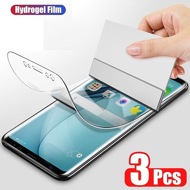 téléphone Protection Ecran Pour Apple Film d'hydrogel S21 S21 Plus S21 Ultra Galaxy A32 Galaxy A52 3 pcs Haute Définition (HD) Extra Fin Auto-guérison Ecran de Protection Avant Film Vitre Protection