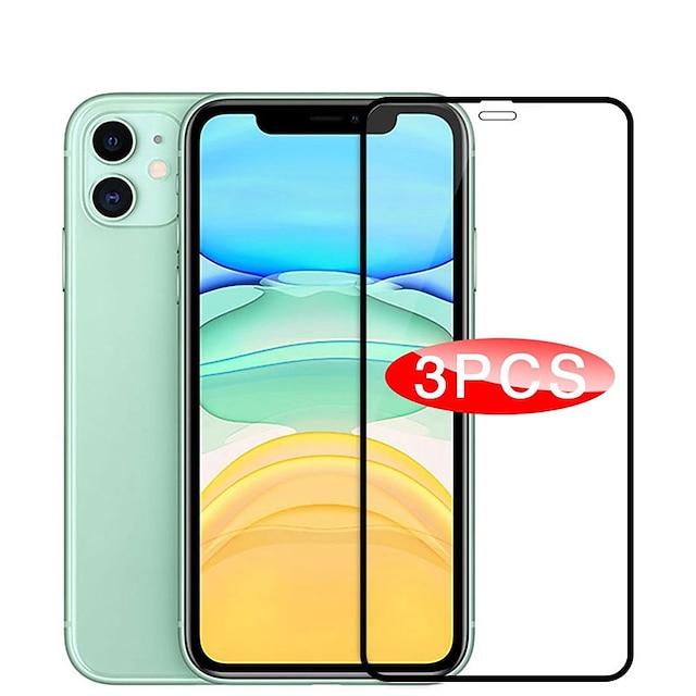 telefono Proteggi Schermo Per Apple S21 S21 Plus S21 Ultra iPhone 12 iPhone 11 Vetro temperato 3 pezzi Alta definizione (HD) A prova di esplosione Proteggi-schermo frontale Appendini per cellulare