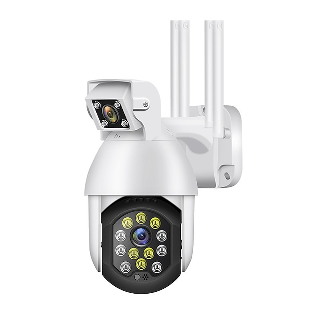 New 3MP Wifi PTZ Camera Outdoor IP Video Surveillance Dual Lens Auto Track 4X Zoom for Smart Home Life Icam365 Remote Monitor