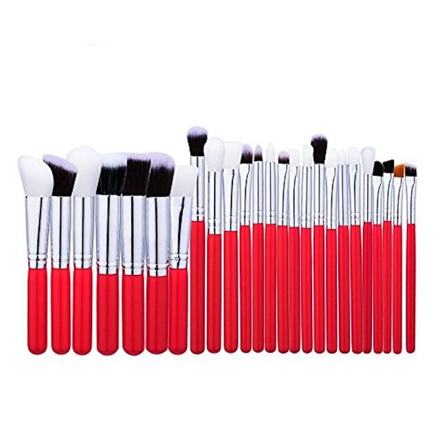 zestaw pędzli do makijażu zawód zestaw pędzli do makijażu zestaw kosmetyków do makijażu pędzel kosmetyczny pędzel do oczu zestaw pędzli do makijażu profesjonalny (kolor: czerwony)