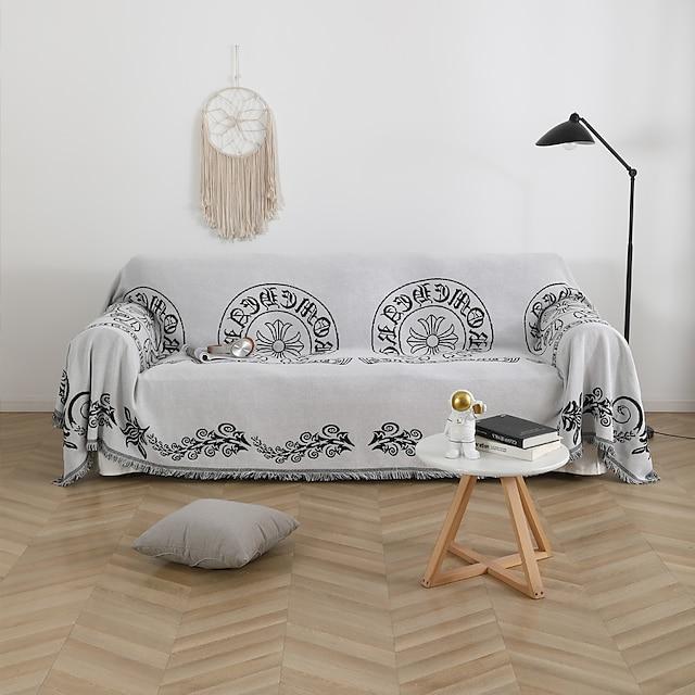 nordisk stil trendy fuldt betræk sofapude fire sæsoner universal skridsikker high-end dobbeltsidet dækning klædehåndklæde universal fuldt betræk sofa håndklæde