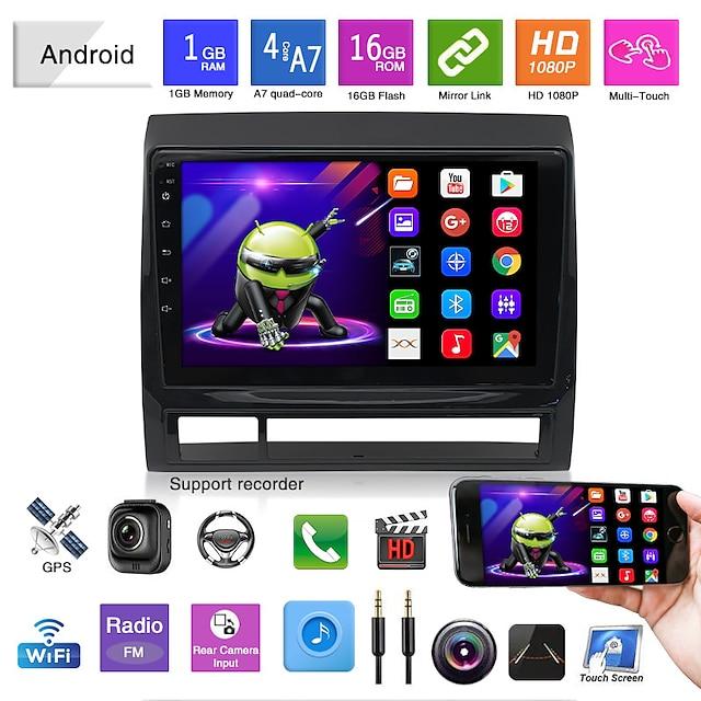 مشغل DVD للسيارة / مشغل MP5 للسيارة / ملاح GPS للسيارة / راديو / رباعي النواة لدعم تويوتا mp3 / wma / flac jpg