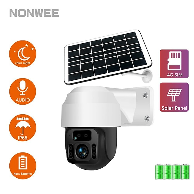 Solar Panel WIFI Camera PIR Human Detection Video Surveillance Vight Vision Waterproof Videcam