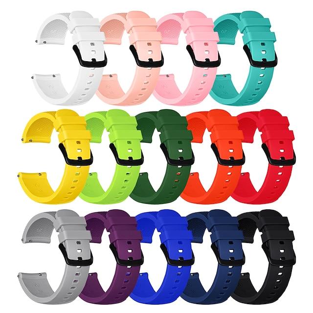 스마트 시계 밴드 용 삼성 갤럭시 화웨이 1 pcs 스포츠 밴드 실리콘 바꿔 놓음 손목 스트랩 용 기어 S3 프론티어 20mm